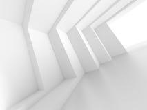 3d Hall vide blanc illustration libre de droits