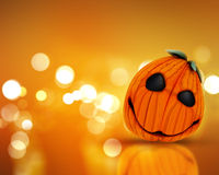 3D Halloween background with pumpkin Stock Photos