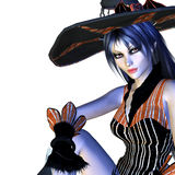 3d Halloween czarownica Fotografia Stock