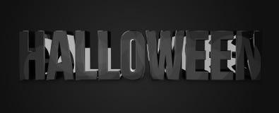 3d Halloween geeft vette letters terug vector illustratie
