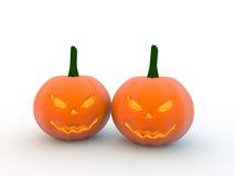 3D Halloween-pompoenen Stock Afbeeldingen