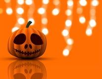 3D Halloween pumpkin background Royalty Free Stock Photo