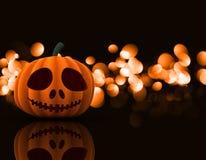 3D Halloween pumpkin background Stock Photography