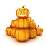 3d Halloween pumpkin Royalty Free Stock Image