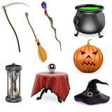 3D halloween set Royalty Free Stock Photo