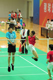 D. Han en L. Wai in actie Royalty-vrije Stock Foto's