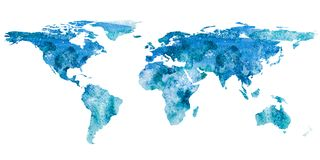 2d hand drawn illustration of world map Stock Photography