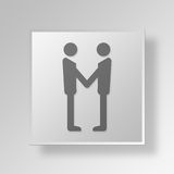 3D Handshake Button Icon Concept Royalty Free Stock Photo