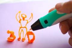 3d handvat modern stuk speelgoed royalty-vrije stock foto's