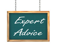 3d hanging banner - expert advice Royalty Free Stock Photo