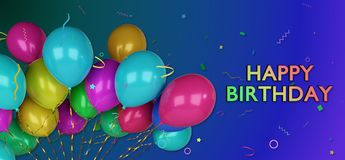 3d happy birthday greetings card Royalty Free Stock Images
