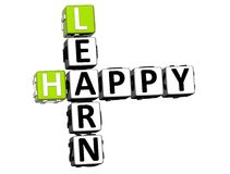 3D Happy Learn Crossword Royalty Free Stock Image