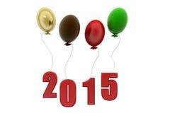 3d happy new year balloon concept Stock Photo
