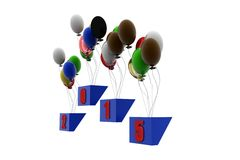 3d happy new year concept Royalty Free Stock Photos