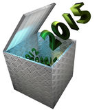 3D Happy New Year 2015 Royalty Free Stock Photography
