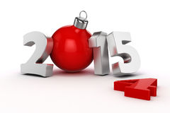 3d happy new year 2015 Royalty Free Stock Photo