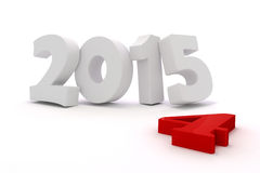 3d happy new year 2015. Text on white background Royalty Free Stock Photo