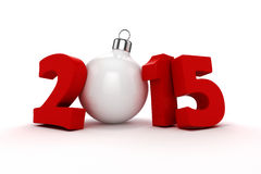 3d happy new year 2015. Text on white background Stock Photo