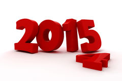 3d happy new year 2015. Text on white background Royalty Free Stock Images
