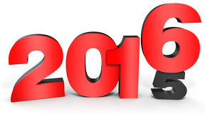 3d happy new year 2016 text Royalty Free Stock Image
