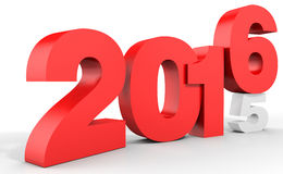 3d happy new year 2016 text Royalty Free Stock Images