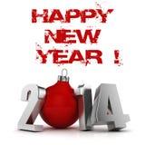 3d Happy New Year 2014 Stock Photos