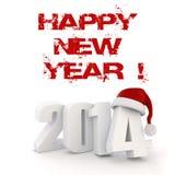 3d Happy New Year 2014 Stock Image