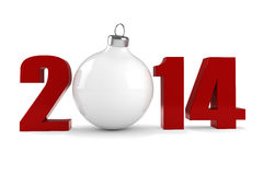 3d Happy New Year 2014 Royalty Free Stock Images
