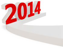3d Happy New Year 2014. On white background vector illustration