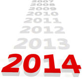 3d Happy New Year 2014 Stock Photos