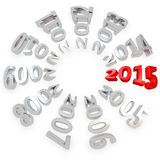 3d Happy New Year 2015. On white background Stock Photo