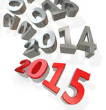 3d Happy New Year 2015 Royalty Free Stock Image