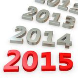 3d Happy New Year 2015. On white background vector illustration
