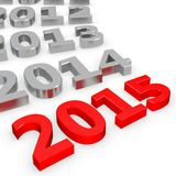 3d Happy New Year 2015 Stock Images