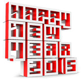 3d Happy new Year 2015. On white background royalty free illustration