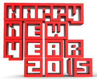 3d  Happy new Year 2015. On white background Stock Image