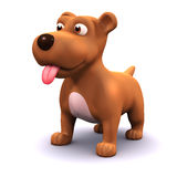 3d Happy puppy Stock Photos
