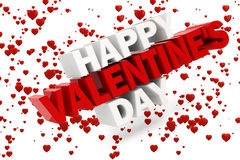 3d happy valentine's day. Text Royalty Free Stock Images
