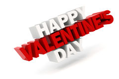 3d happy valentine's day text. On white background Royalty Free Stock Image