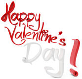 3d happy valentine's day. On white background Royalty Free Stock Image