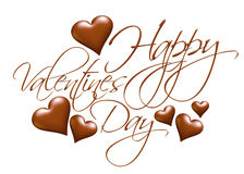 3D Happy Valentines Day chocolate logo design Royalty Free Stock Photography