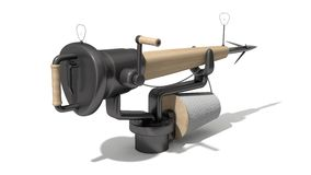 3d harpoon cannon design Royalty Free Stock Images