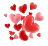 3d harten op wit worden geïsoleerd dat stock illustratie