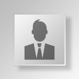 3D Harvey Reginald Specter Button Icon Concept Lizenzfreie Stockfotografie