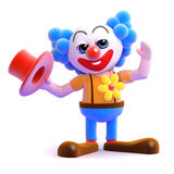 3d Hats off to the clown Royalty Free Stock Photography