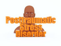 3d head and posttraumatic stress disorder Royalty Free Stock Image