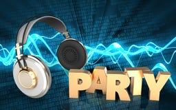 3d headphones headphones Royalty Free Stock Image