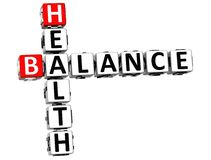 3D Health Balance Crossword. On white background Stock Photo