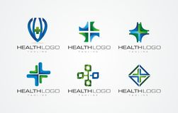 3D HEALTH / HEALTY OFFICCE LOGO DESIGN Royalty Free Stock Photos