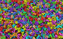 3d Heap of colorful numbers. 3d render of heap of colorful numbers royalty free illustration